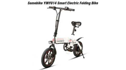 Samebike YINYU14 - Samebike YINYU14 Smart Folding Bicycle Gearbest Coupon Promo Code