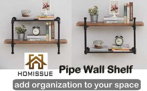 Homissue 2 Tier Pipe Wall Shelving - Homissue 2-Tier Pipe Wall Shelving Amazon Coupon Promo Code