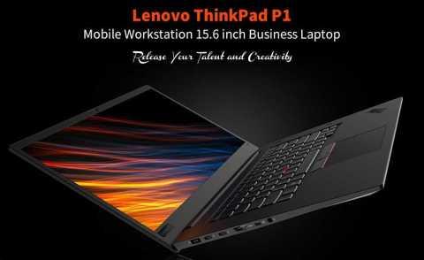 Lenovo ThinkPad P1 - Lenovo ThinkPad P1 Notebook 15.6 inch Gearbest Coupon Promo Code [i7-8750H 8+256GB SSD]