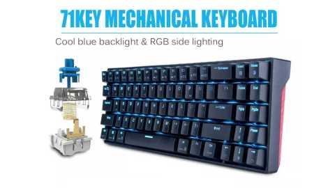 Royal Kludge RK71 - Royal Kludge RK71 Dual Mechanical Gaming Keyboard Banggood Coupon Promo Code [Ice Blue]