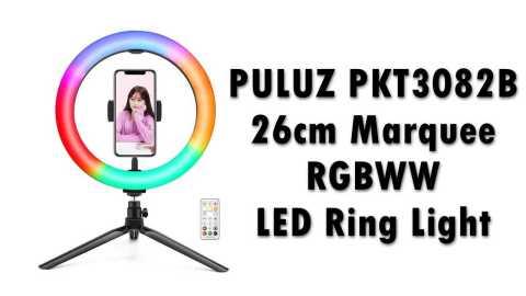 PULUZ PKT3082B - PULUZ PKT3082B 26cm Marquee RGBWW LED Ring Light Banggood Coupon Promo Code