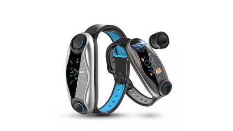 lemfo lt04 bluetooth earphone smart watch