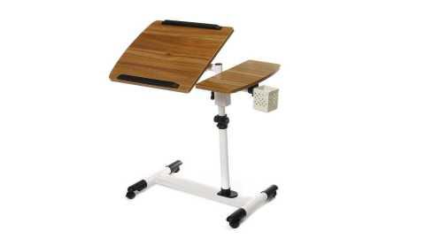 adjustable rolling laptop desk