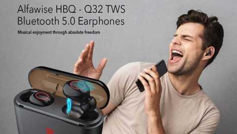 alfawise hbq – q32 tws bluetooth 5.0 earphones