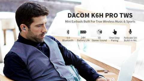 DACOM K6H Pro - DACOM K6H Pro True Wireless Headphones Amazon Coupon Promo Code