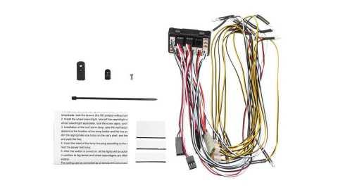 hg p407 1/10 rc car shell led light board set 407-dz007