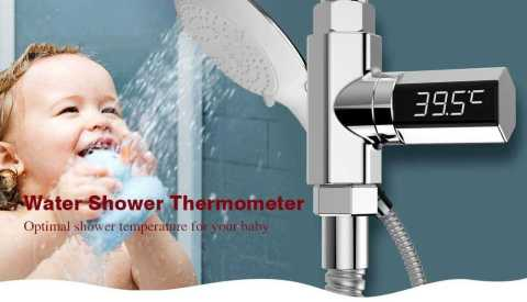led display shower thermometer