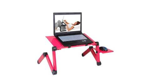 portable adjustable foldable laptop table