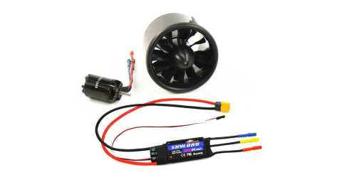 tomcat 70mm12 blades ducted fan with 2827-kv2600 brushless motor 80a esc