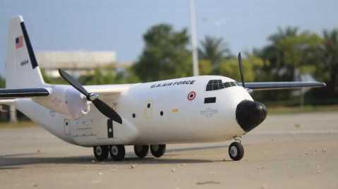 c-160 cargotrans twin hercules rc airplane kit