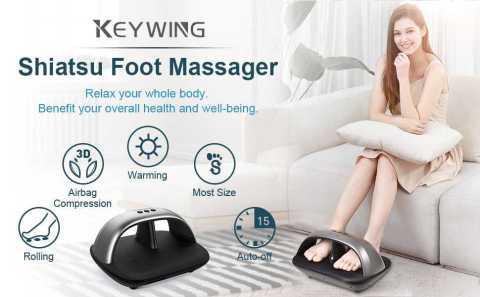 KEYWING shiatsu Foot Massager - Keywing Ergonomic Shiatsu Foot Massager Amazon Coupon Promo Code