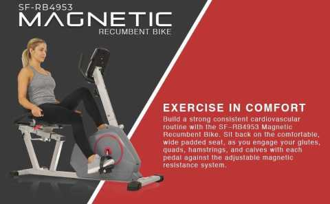 Sunny Health Fitness SF RB4953 - Sunny Health & Fitness SF-RB4953 Magnetic Recumbent Exercise Bike Amazon Coupon Promo Code