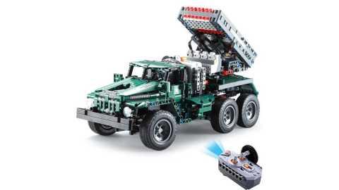 cada c61002 1/20 diy building block rc bm21 rocket launcher