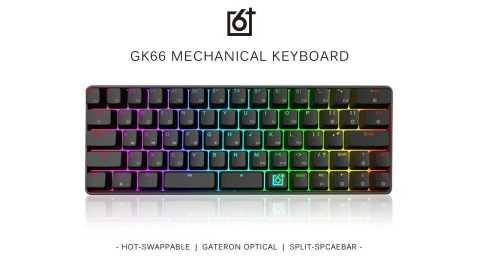 geek gk66 usb-c wired mechanical gaming keyboard