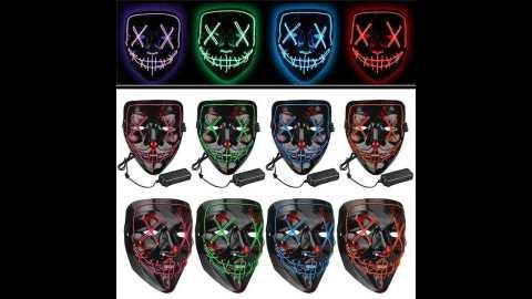 Halloween 4 Modes LED Light El Wire - Halloween 4-Modes LED Light El Wire Mask Banggood Coupon Promo Code