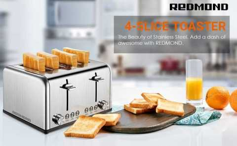 REDMOND 4 Slice Toaster 1 - REDMOND 4 Slice Toaster Amazon Coupon Promo Code