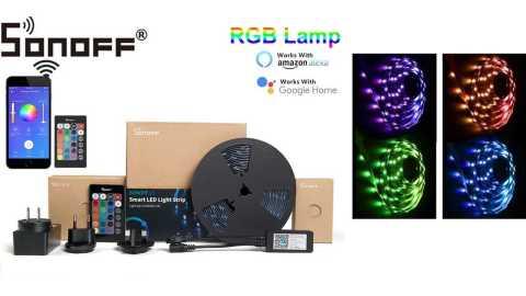SONOFF L1 strip light kit - SONOFF L1 Dimmable LED Strip Light Kit Banggood Coupon Promo Code