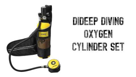 DIDEEP Diving Set - DIDEEP Diving Oxygen Cylinder Set Banggood Coupon Promo Code [Czech Warehouse]