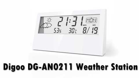 Digoo DG AN0211 - Digoo DG-AN0211 Transparent Screen Weather Station Banggood Coupon promo code