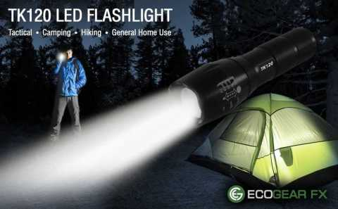 EcoGear FX TK120 - EcoGear FX TK120 LED Tactical Flashlight Amazon Coupon Promo Code