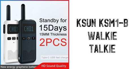 KSUN KSM1 B Walkie Talkie - KSUN KSM1-B Walkie Talkie Gearbest Coupon Promo Code [2PCS]