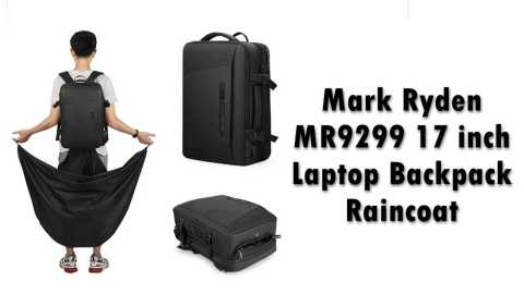 Mark Ryden MR9299 17 inch Laptop Backpack Raincoat - Mark Ryden MR9299 17 inch Laptop Backpack Banggood Coupon Promo Code