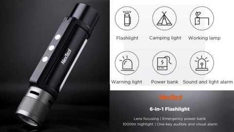 NEXTOOL 6 in 1 alarm flashlight - Xiaomi NEXTOOL 6-in-1 Alarm Flashlight Banggood Coupon Promo Code