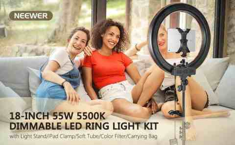 "Neewer 18 55W 5500K Dimmable LED Ring Light - Neewer 18"" 55W 5500K Dimmable LED Ring Light Amazon Coupon Promo Code"