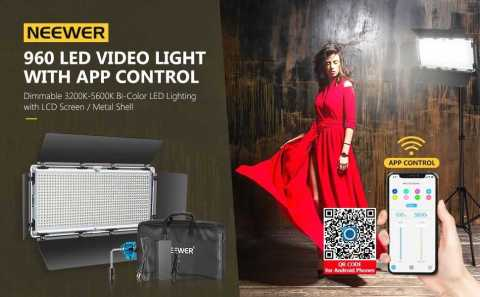 Neewer 960 LED Video Light - Neewer 960 LED Video Light with App Control Amazon Coupon Promo Code