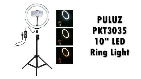 "PULUZ PKT3035 - PULUZ PKT3035 10"" LED Ring Light Banggood Coupon Promo Code"