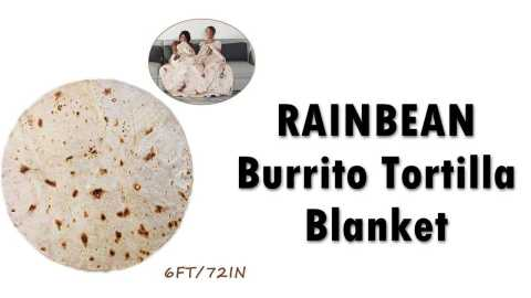 RAINBEAN Burrito Tortilla Blanket - RAINBEAN Burrito Tortilla Blanket Amazon Coupon Promo Code