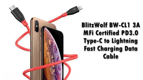 BlitzWolf BW CL1 - BlitzWolf BW-CL1 Type-C to Lightning Fast Charging Cable Banggood Coupon Code [Czech Warehouse]