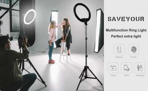 SAVEYOUR 18 Inch Ring Light - SAVEYOUR 18 Inch Ring Light with Stand Amazon Coupon Promo Code