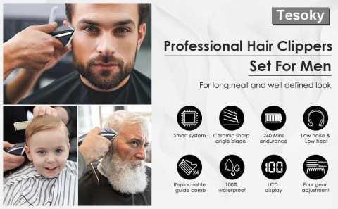 Tesoky Professional Hair Clipper - Tesoky Professional Hair Clipper Set for Men Amazon Coupon Promo Code