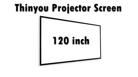 Thinyou Projector Screen - Thinyou Projector Screen 120-Inch 16:9 Banggood Coupon Promo Code [Czech Warehouse]