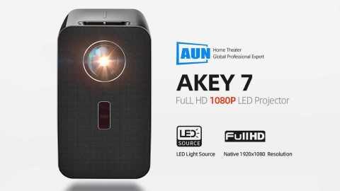 AUN AKEY7 - AUN AKEY7 FULL HD 1080P LED Projector Control Banggood Coupon Promo Code