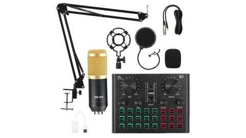 BM800 Pro Condenser Microphone Kit with V8 Plus - BM800 Pro Condenser Microphone Kit with V8 Plus Sound Card Banggood Coupon Promo Code