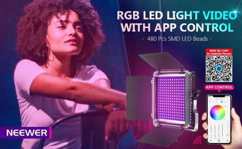 Neewer 480 RGB Led Light - Neewer 480 RGB Led Light with APP Control Amazon Coupon Promo Code