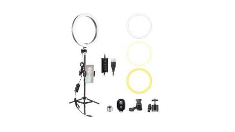 Neewer 10 inch LED Ring Light - Neewer 10-inch LED Ring Light with 32-inch Tripod Stand Amazon Coupon Promo Code