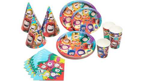 Oddbods Theme Kids Birthday Party Supplies Decorations Set - Oddbods Kids Birthday Party Supplies & Decorations Set Amazon Coupon Promo Code [80pcs]