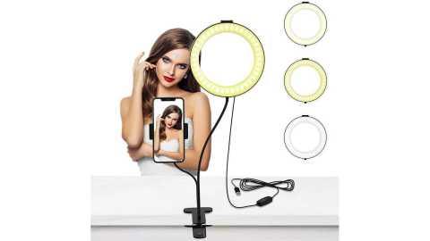 Selvim 6 inch Selfie Ring light - Selvim 6 inch Selfie Ring Light with Cellphone Holder Amazon Coupon Promo Code