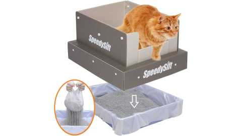 SpeedySift Cat Litter Box - SpeedySift Cat Litter Box with Disposable Sifting Liners Amazon Coupon Promo Code