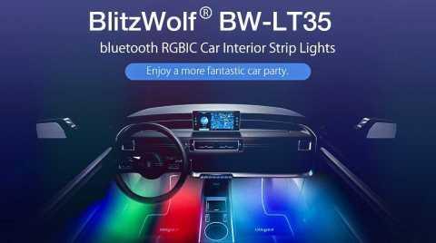 BlitzWolf BW LT35 - BlitzWolf BW-LT35 Bluetooth RGBIC Car Interior Strip Lights Banggood Coupon Promo Code