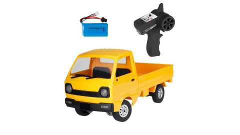 WPL D12 yellow - WPL D12 1/10 2WD Military Truck RC Car Banggood Coupon Promo Code [Yellow]