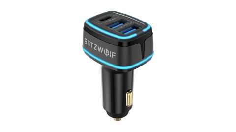Blitzwolf BW SD7 - Blitzwolf BW-SD7 80W 3-Port USB PD Car Charger Banggood Coupon Code [Czech Warehouse]