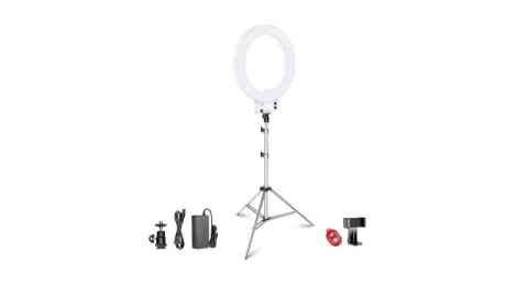 Neewer 18 inch LED Ring Light - Neewer 18-inch LED Ring Light with Silver Light Stand Lighting Kit Amazon Coupon Promo Code