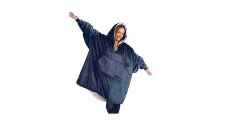THE COMFY - THE COMFY Microfiber & Sherpa Wearable Blanket Amazon Coupon Promo Deal