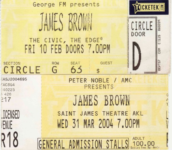 James Brown, Auckland 2004