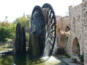 Wasserrad in Hama, Syrien