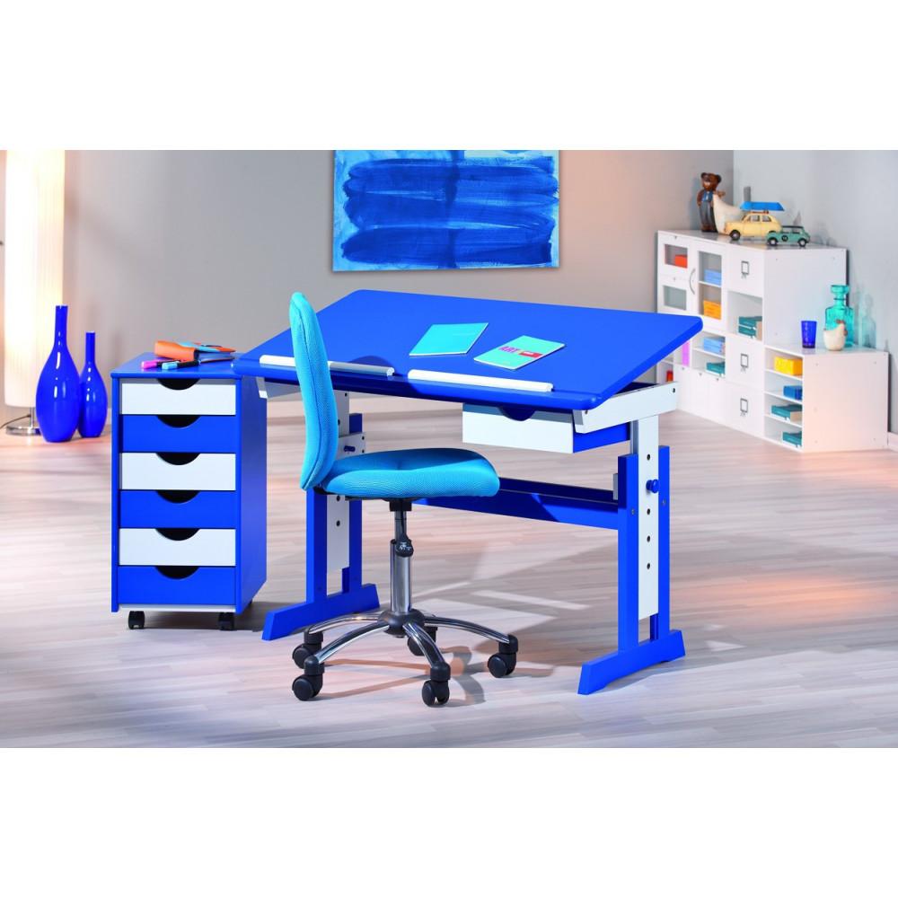 Bureau Junior Paco 109x55 Bleu Reglable
